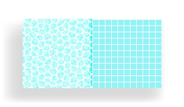 Oppervlakte van het water in het zwembad met naadloos tegelpatroon.