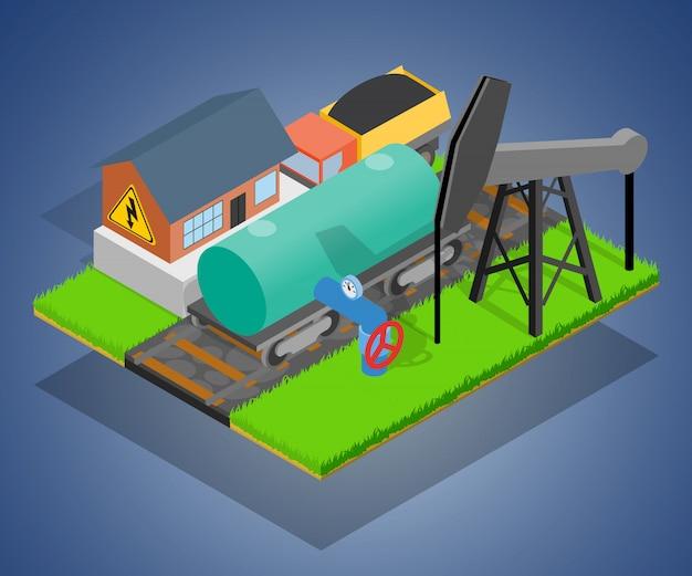 Opslag depot concept scène