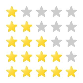 Opslag van energiestappen in lege en geleidelijk volle ster