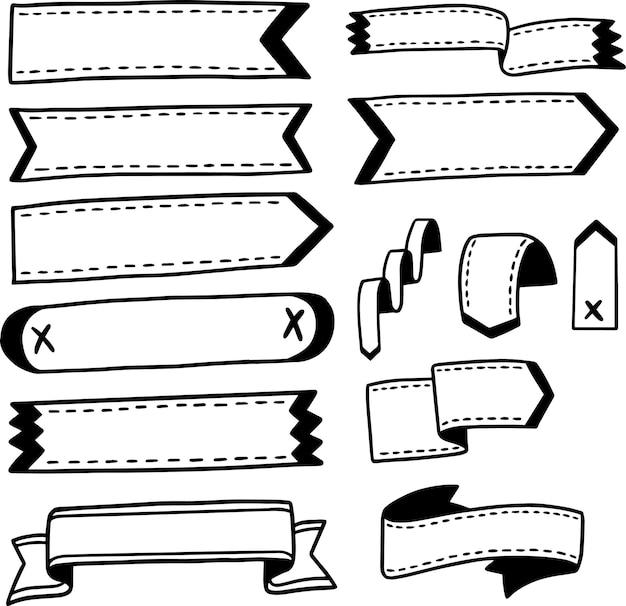 Opsommingstekens voor dagboeken met de hand getekend