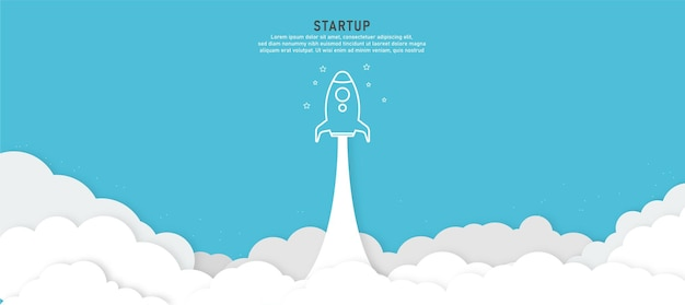 Opstarten achtergrond raket schip lancering concept product