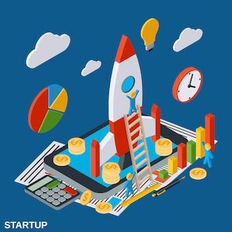 Opstarten van bedrijven illustratie
