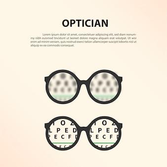 Opticien concept.
