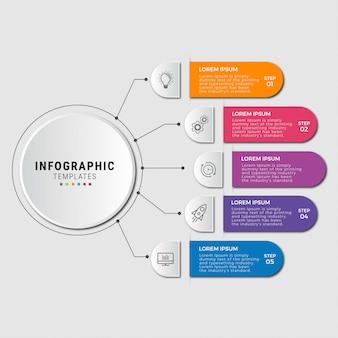 Optie nummer 5 infographic ontwerp