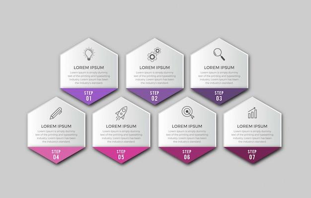 Optie nummer 7 infographic ontwerp