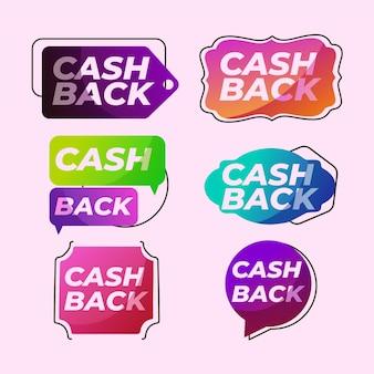 Optie om cashback-labels te verzamelen