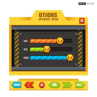 Opties interface