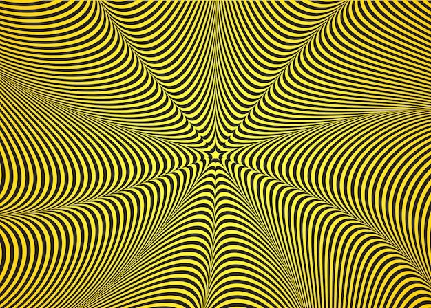 Optische illusie, abstracte gedraaide achtergrond