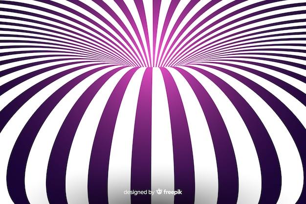 Optische illusie achtergrond vlakke stijl