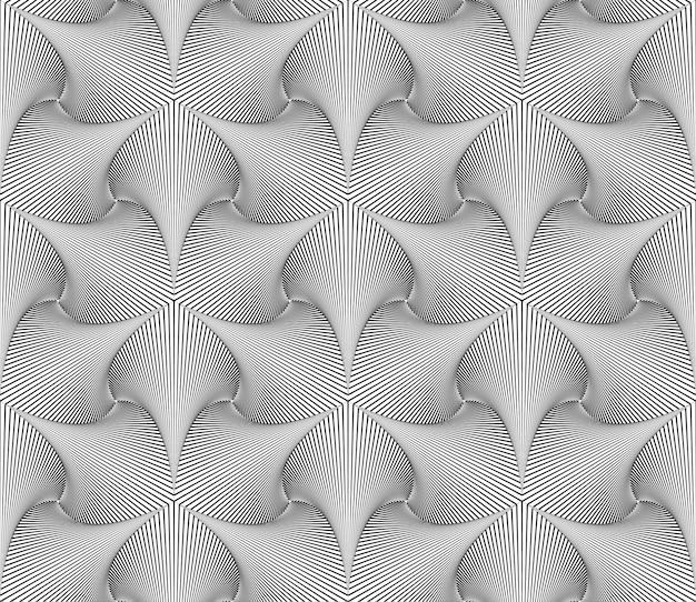 Optische illusie lijnen patroon