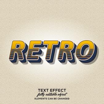 Opvallende 3d-retro-tekststijl