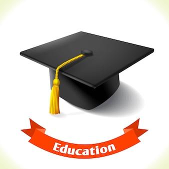 Opvoedingspictogram graduatiehoed