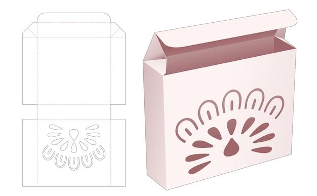 Opvouwbare blikken doos met gestencilde mandala gestanste sjabloon