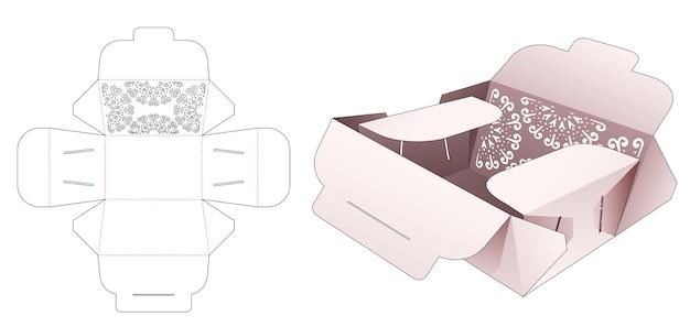 Opvouwbare flip-box en gestencilde mandala gestanste sjabloon