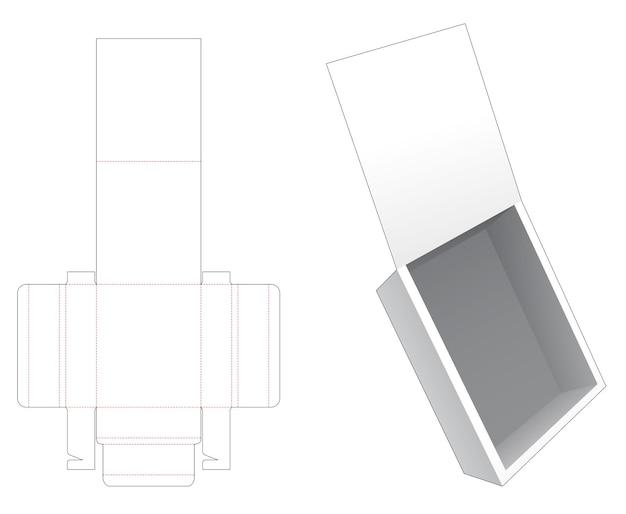 Opvouwbare flip-box gestanst sjabloon