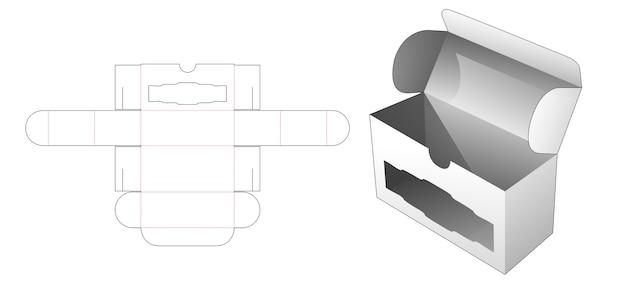Opvouwbare flip-box met luxe venster gestanst sjabloon