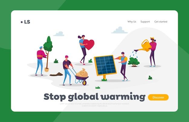 Opwarming van de aarde red de aarde verminder stof, luchtverontreiniging en co2-uitstoot
