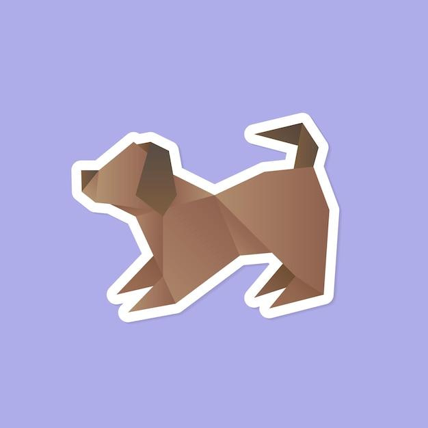 Oragami hond
