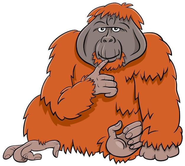 Orang-oetan aap wilde dieren cartoon afbeelding
