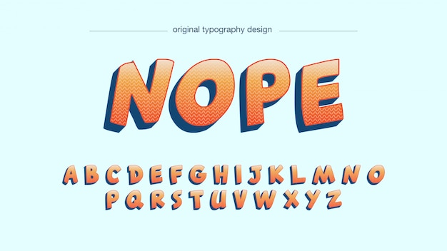 Orange bold cartoon comics typography