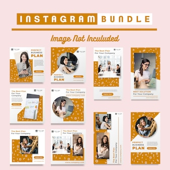 Orange business instagram post templates