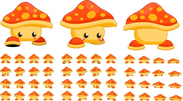 Orange mushroom game sprites
