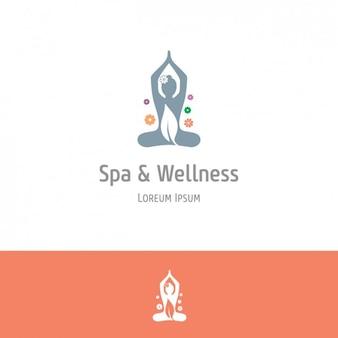 Orange spa en wellness-achtergrond