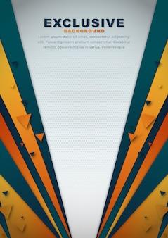 Oranje abstracte achtergrond met vormenachtergrond
