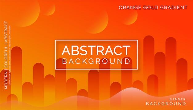 Oranje abstracte achtergrond, modern kleurrijk dynamisch ontwerp