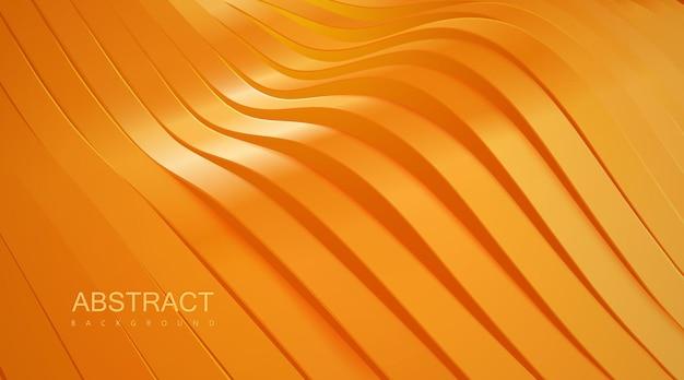 Oranje abstracte achtergrond van gesneden golvend oppervlak