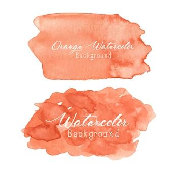 Oranje abstracte aquarel achtergrond.