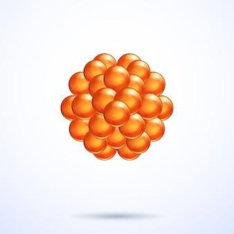 Oranje abstracte bollen