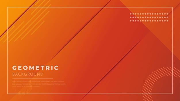 Oranje abstracte geometrische premium achtergrond