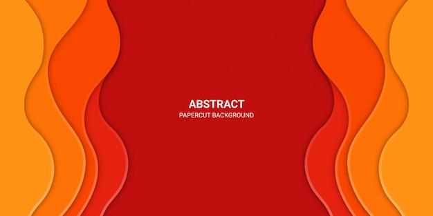 Oranje abstracte papier gesneden achtergrond