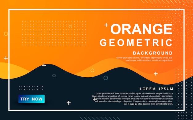 Oranje abstracte vloeibare achtergrond