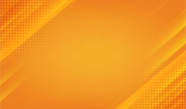 Oranje achtergrond met halftoon