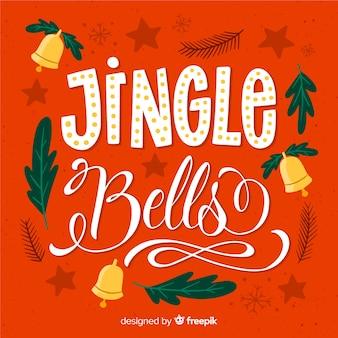 Oranje achtergrond met kerst letters