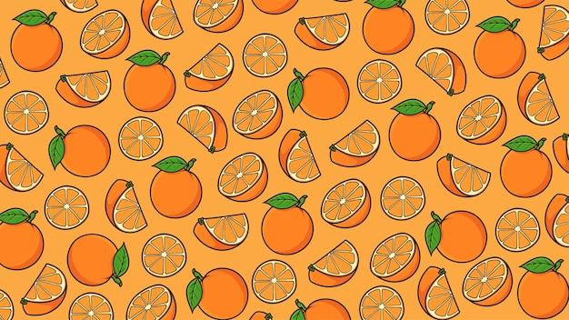 Oranje achtergrondpatroon vector geïsoleerd