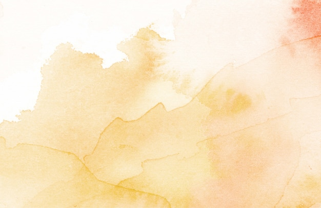 Oranje aquarel abstracte textuur achtergrond