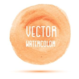 Oranje aquarel vlek geïsoleerd op een witte achtergrond