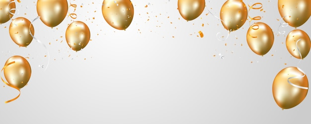 Oranje ballonnen en confetti