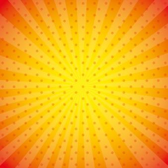 Oranje behangillustratie