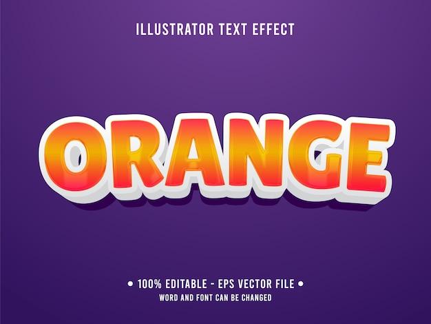 Oranje bewerkbare teksteffect moderne stijl met oranje kleurverloop