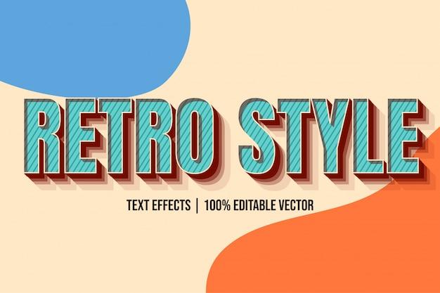 Oranje blauw modern oud retro-stijl teksteffect