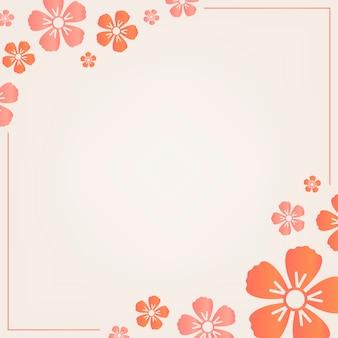 Oranje bloemenframe