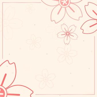 Oranje bloemenpatroon