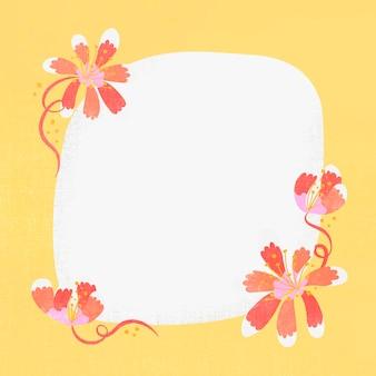 Oranje bloemkader, vector, leuke illustratie
