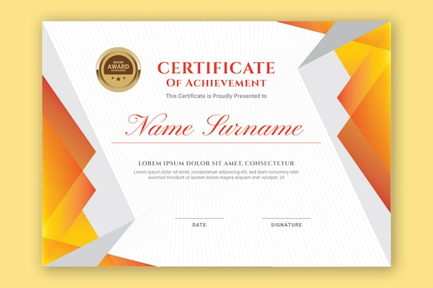 Oranje certificaat