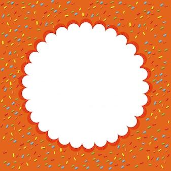 Oranje confetti sjabloon achtergrond