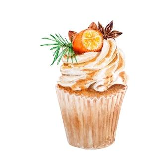 Oranje cupcake